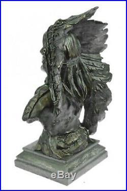 Bronze Décor de Collection Sculpture Art Déco 12 Indien Native Chef Aigle