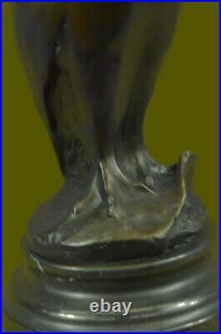 Bronze Marbre Base Chouette Sculpture Figurine Statue Art Déco Fonte Home Solde