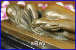 Bronze Métal Statue Marbre Chair Nue Femelle Style Art Nouveau Famous Sculpture