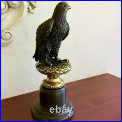 Bronze Sculpture Aigle Nachthorbum, Art Figurine Pour Amanteurs