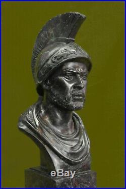 Bronze Sculpture Statue Marbre Figurine Buste Guerrier Romain Art Nouveau
