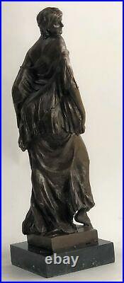 Bronze Sculpture Statue Superbe Art Nouveau Sexy Maiden Figurine Cadeau