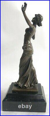 Bronze Sculpture Statue Vienne Autriche Art Déco Nouveau Main Cire Joint Jeune
