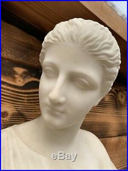 Buste Femme en marbre de Guglielmo PUGI époque art nouveau