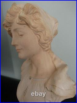 Buste La Bohémienne LE GULUCHE Art nouveau Jugend