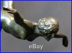 C 1930 belle Sculpture bronze Botinelly 37cm3.4kg Susse paris danseuse art déco
