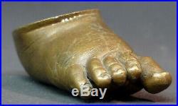 C 1930 sculpture statue bronze pied enfant 10cm880g art nouveau presse papier