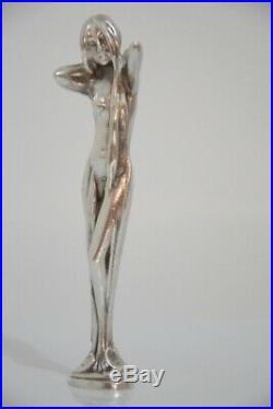 Cachet en argent Sculpture femme Elégante art nouveau