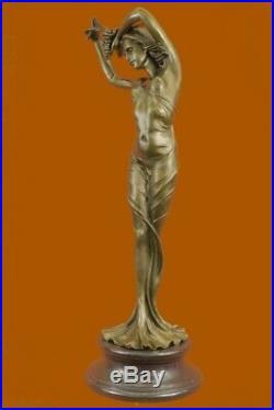 Chair Femelle Bronze Statue Sculpture Décoration Maison Déco Art Figurine Solde