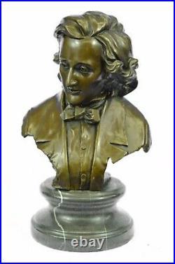 Chopin Buste Musée Qualité Bronze Sculpture Statue Figurine Art Décor Large