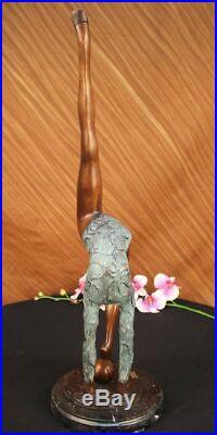 Collectionneur Édition Sol Enfant Gymnaste Bronze Sculpture Art Déco Sport