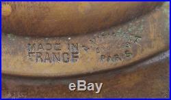 Coupe Bronze Albert Marionnet sculpture art nouveau décor épis de mais fleurs