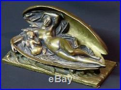 D 1840 jolie sculpture statuette bronze James Pradier naissance de l'amour 22cm