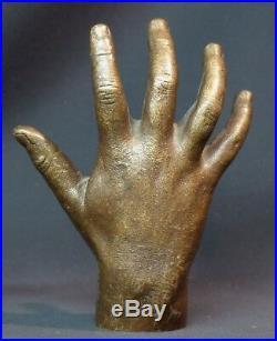 D 1930 sculpture moulage en bronze paire de mains d'enfant 15cm3kg