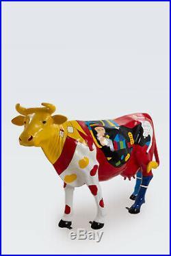 DEHLI Statue scultpure résine vache geante XL 220cm design pop art cow deco