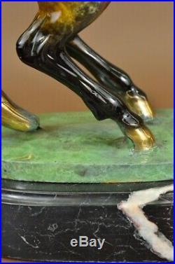 Détaillé Mâle Mare Cheval Ferme Cheval Bronze Sculpture Figurine Fonte Art Solde
