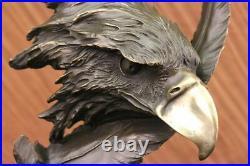 Détaillé Rare Aigle Marbre Sculpture Buste Bronze Tête Collection Art Déco Deal