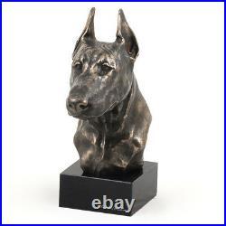 Dobermann coupé, statue miniature / buste de chien, edition limitée, Art Dog FR