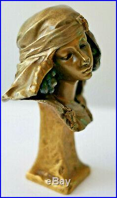 E. Barrias Ancienne Sculpture Bronze Époque Art Nouveau Orientaliste Susse Frères