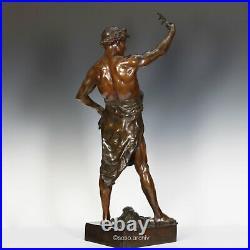 É. L. Picault Glorie Et Fortune Bronze Sculpture 1900 Vrai Paris Art Nouveau