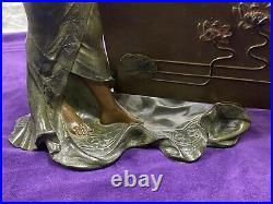 Élise Ward Hering Porte Lettre Époque Art Nouveau Femme Drapée Sculpture An1900