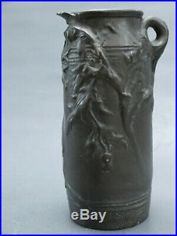 Ernest Sanglan Salon 1896 Vase Etain Art Nouveau Sculpture 1900 Bronze Galle