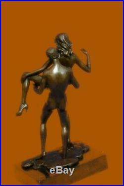 Érotique Sexuel Sexe Bronze Sculpture Marbre Base Figurine Statue Art Solde