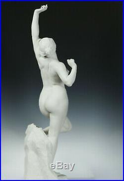 F. Charpentier Matinado le Morgen 93cm Biscuit Porcelaine Sèvres Art Nouveau Nu