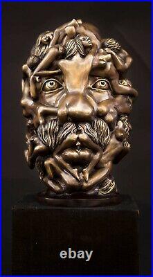 FINE ARTS Wohnkultur Sculpture en bronze Figure Dali Tête Statue érotique Corps