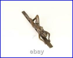 Figure En Bronze Sculpture Statue Presse-Papier Femme Nue Érotique Style Art Déc