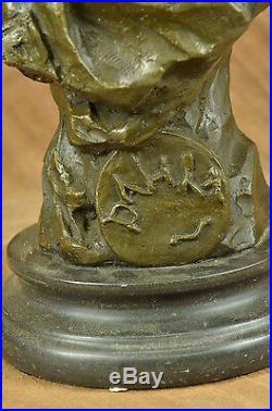Fine Large Vintage Français Style Art Nouveau Bronze Sculpture Statue'Villanis