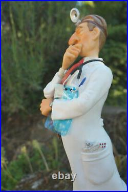 Fo85508 D Figurine Metier Le Medecin Docteur Toubib Forchino Promotion 45cm