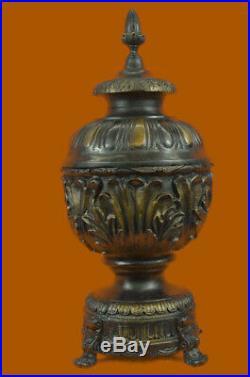 Fonte 100% Bronze Urne Maison Extérieur Intérieur Ornement Statue Sculpture Art