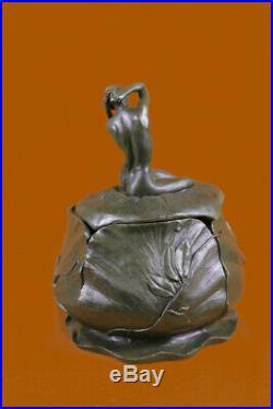 Français Art Nouveau Bronze Sculpture Par Maurice Bouval Figurine Décor