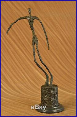 GIA Chiparus Bronze Massif Sculpture. Abstrait Art Déco Nouveau Figurine Dali