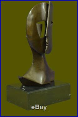 GIA Chiparus Bronze Massif Sculpture. Abstrait Art Déco Nouveau Picasso Dali