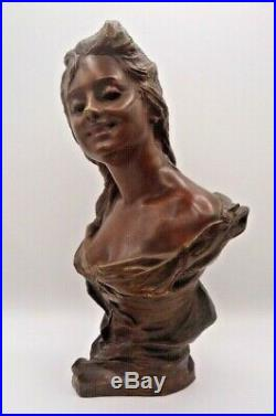 Georges VAN DER STRAETEN-Bronze art nouveau vers 1900-cachet fondeur