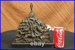 Grand Tête Bronze Sculpture Abstrait Art Déco Nouveau Fin Décor Figurine