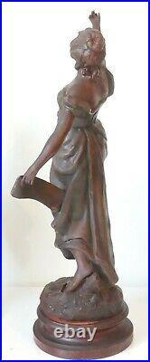 Grande Sculpture Art Nouveau et ses Vases La Gloire Geo Maxim