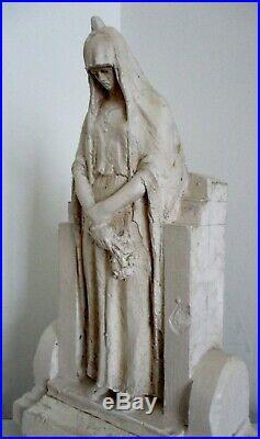 Grande sculpture statue maquette d'Alfred FINOT (1876-1947) Femme Symbolisme