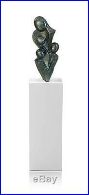 Haute Qualité Shona Art Pierre Sculpture Famille en Vert Cobalt Stein
