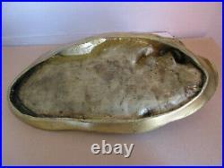 Important bronze doré signé MAXIME. Jeune femme dénudée. Art-Nouveau / Art-Déco