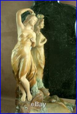 Importante Sculpture En Terre Cuite Par Joseph Le Guluche Art Nouveau