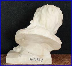 Importante sculpture ép art Nouveau en albâtre