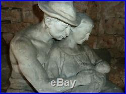 Imposante statue art nouveau- PAR A. FINOT DE L ECOLE DE NANCY