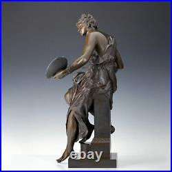 J. P. Aubé Allégorie De Peinture Bronze Sculpture Um 1900 France Art Nouveau