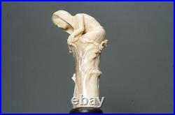 Jambe Sculpture sur Socle en Bois Art Nouveau 22cm Femme Nu Érotique Buste