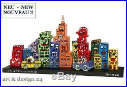 James Rizzi Pop Art Sculptures Set Mini Skyline Limited Edition de 500