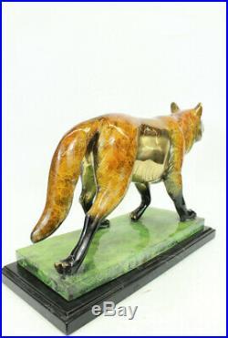 Jeu de Trône Limitée Numérotée Loup Art Déco Bronze Sculpture Marbre Figurine