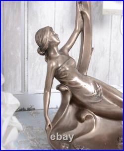 Lampe de Table Antique Tiffany Lampe Sculpture Féminine Lampe de Chevet Neuf